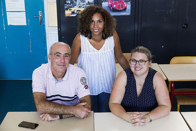Khaled Achiche, Stéphanie Pancrate et Virginie Ducarme, professeurs de technologie, histoire-géographie, sciences physiques