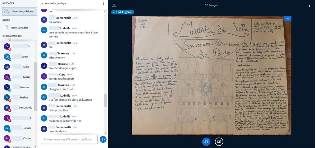 Web conférence Lettres